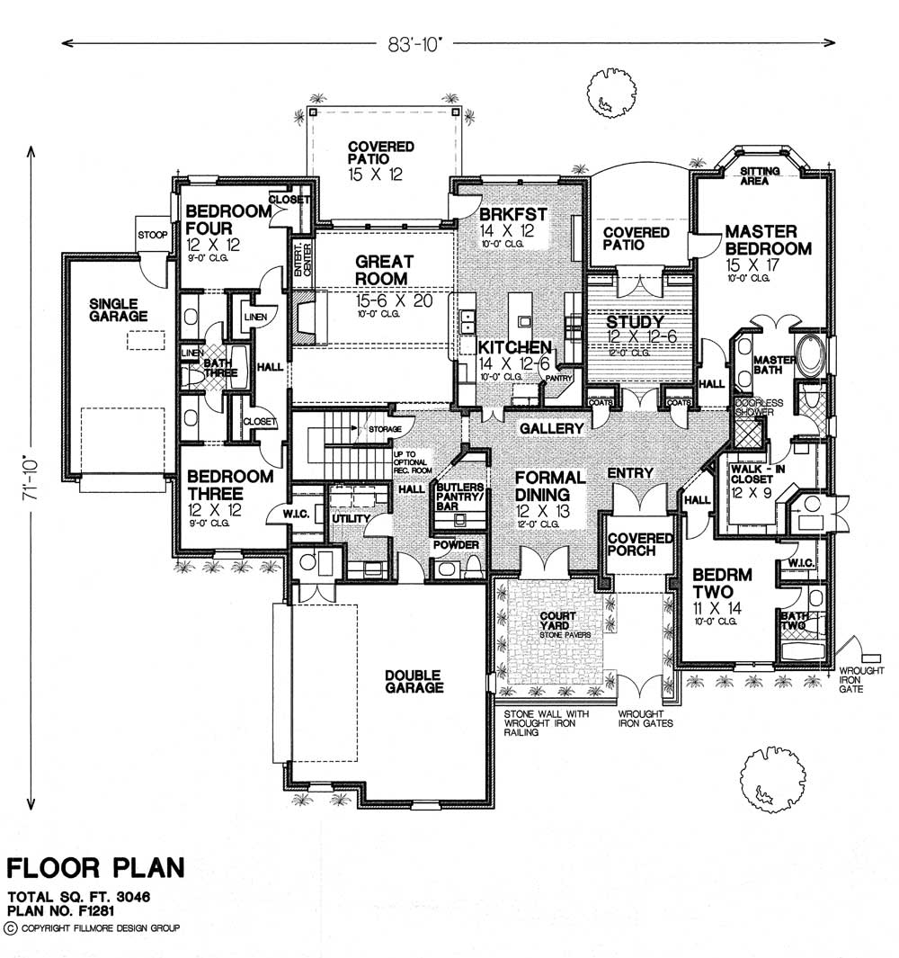 F1281 fillmore chambers design group Fillmore design floor plans