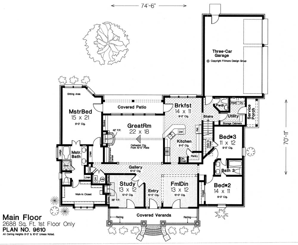 House plans by fillmore design group house design ideas Fillmore design floor plans