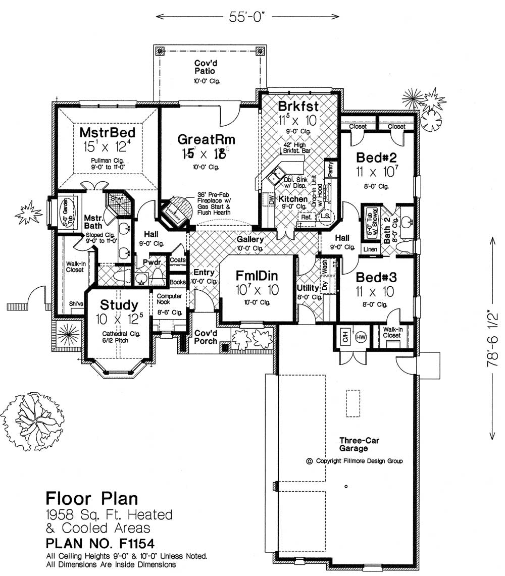 F1154 fillmore chambers design group Fillmore design floor plans