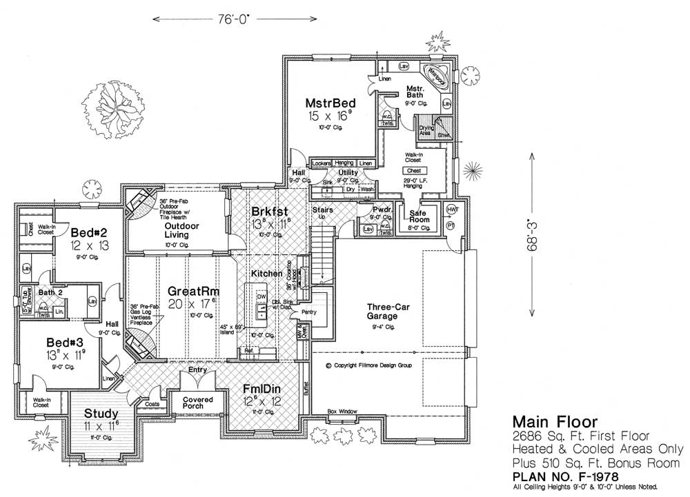 F1978 fillmore chambers design group Fillmore design floor plans