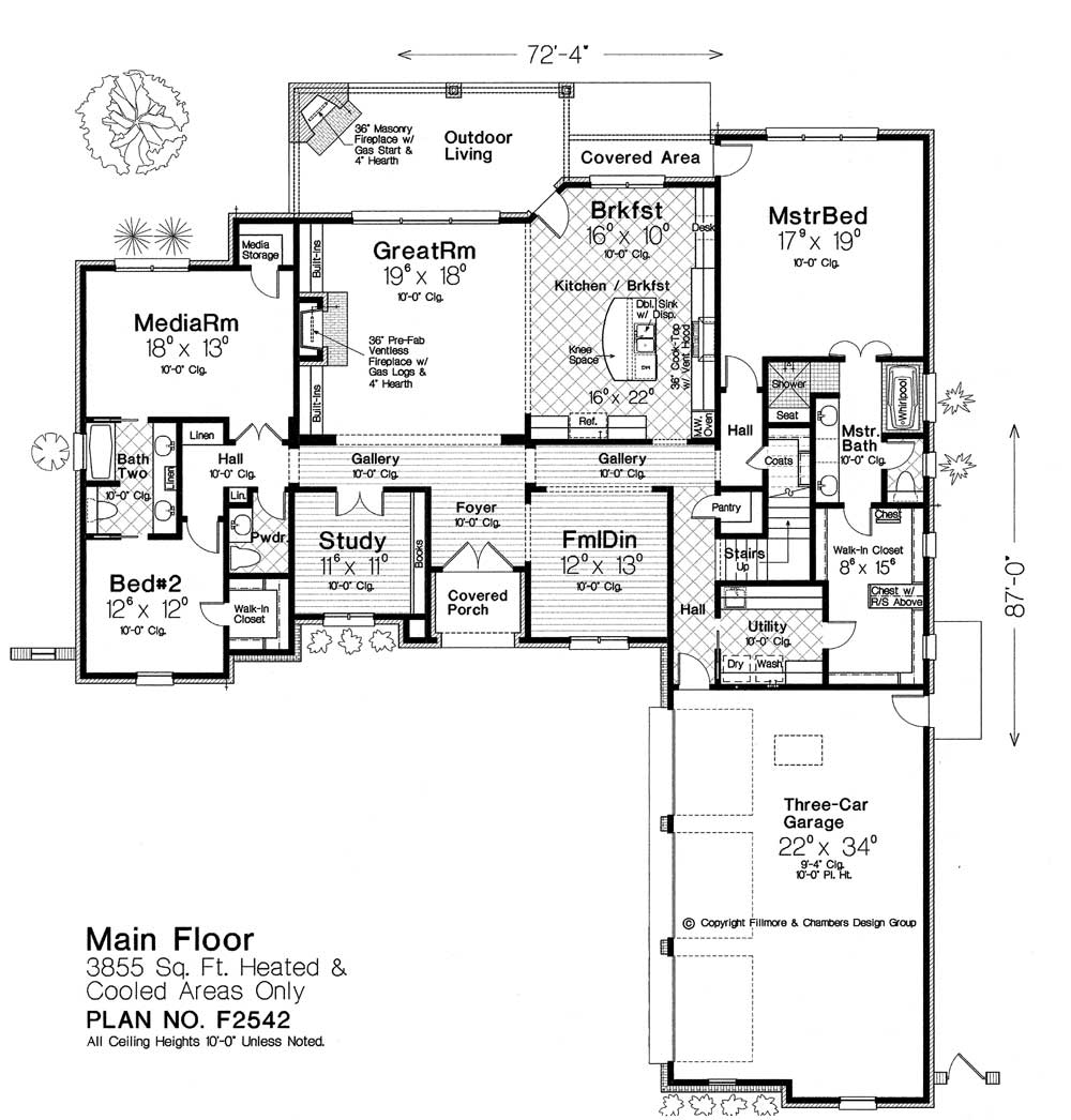 F2542 Fillmore Chambers Design Group: fillmore design floor plans