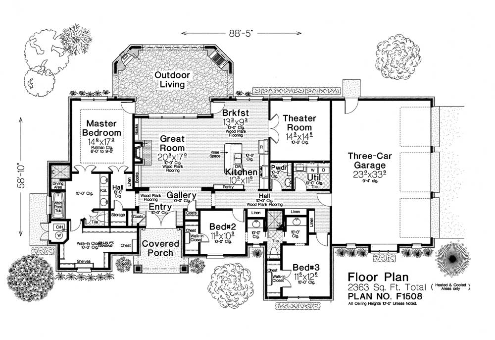 F1508 fillmore chambers design group for Fillmore design floor plans