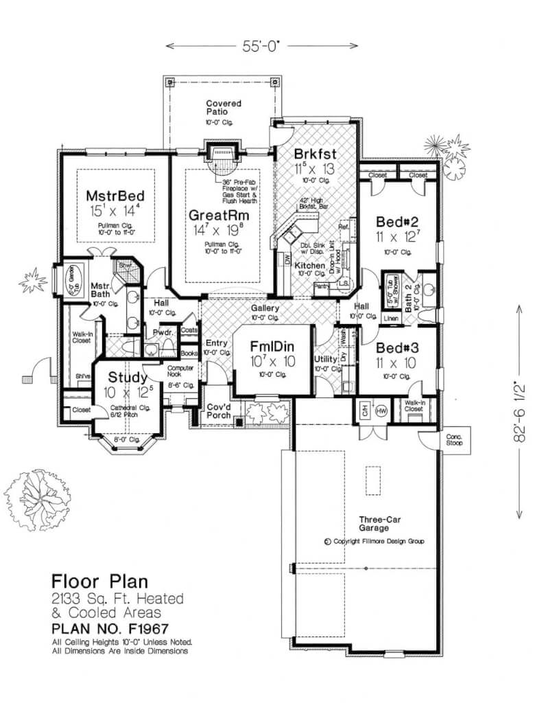 Fillmore design floor plans for Fillmore home designs
