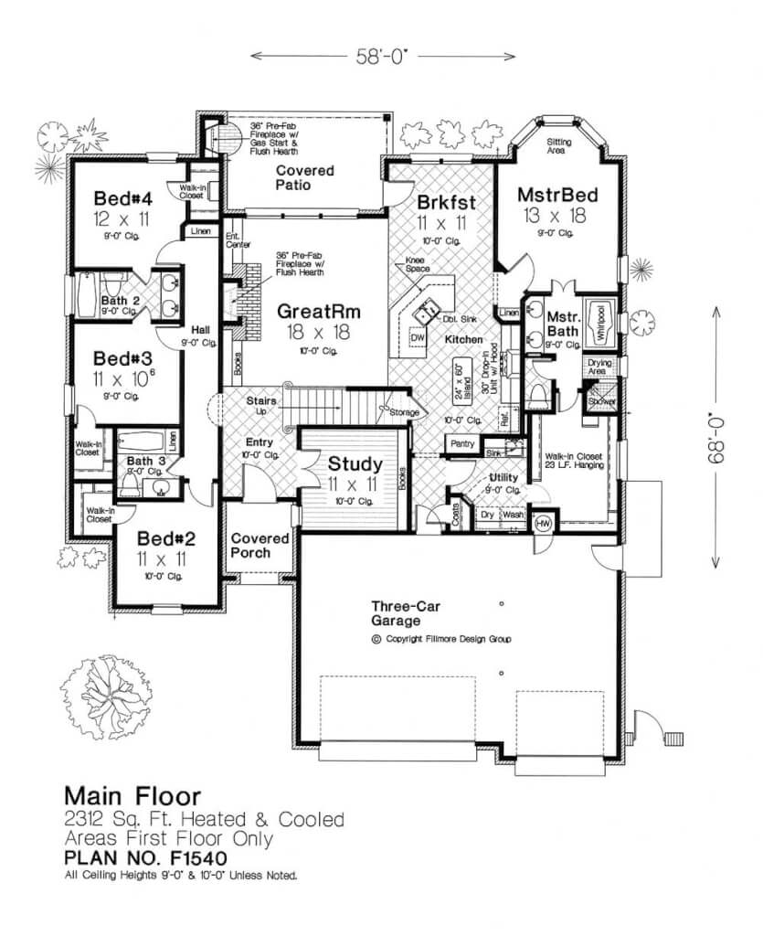 F1540 fillmore chambers design group Fillmore design floor plans