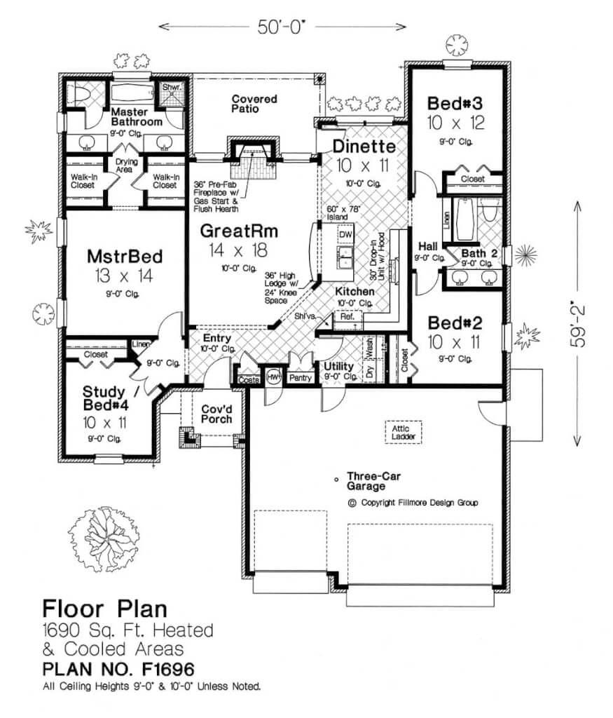 F1696 fillmore chambers design group for Fillmore design floor plans