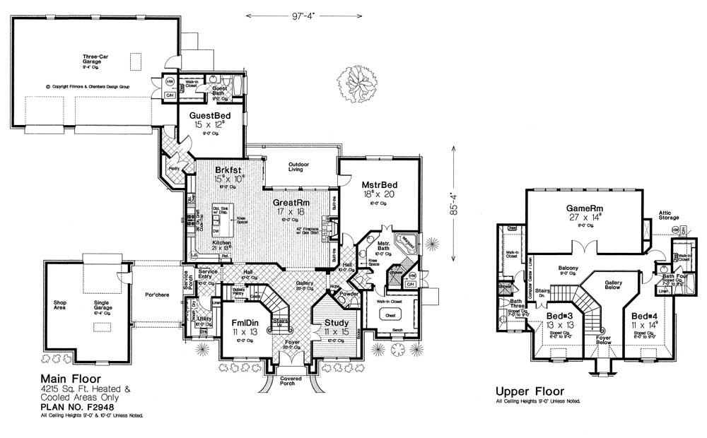 F2948 new plan fillmore chambers design group Fillmore design floor plans