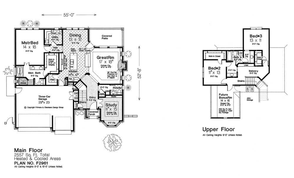 F2961 new plan fillmore chambers design group Fillmore design floor plans